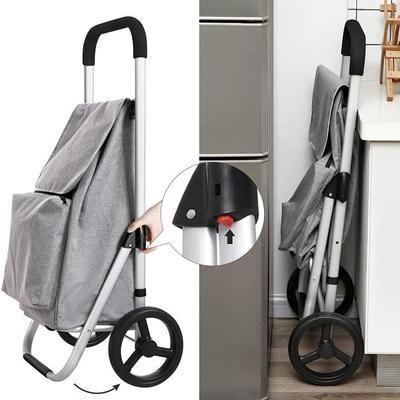 Poussette De Marche Poussette Poly Rouge Coquelicot Poussette Poly Rouge Coquelicot Folding Bag Shopping Trolley Bags