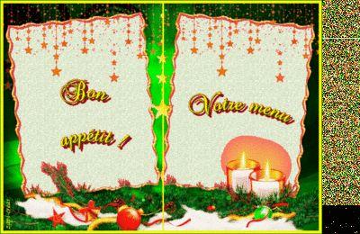 Carte Menu De Noël Gratuite à Imprimer Menu De Noël Menu