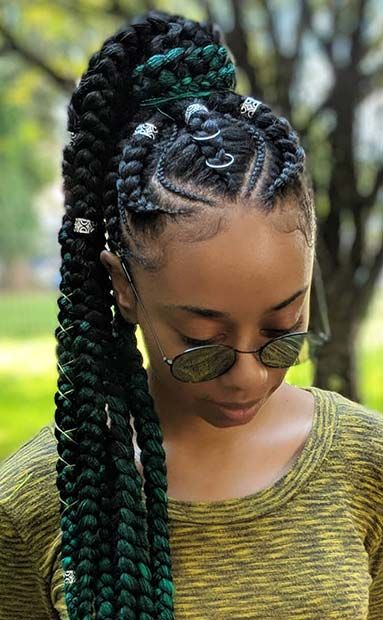 51 Best Ghana Braids Hairstyles – StayGlam - Page 5