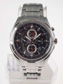 Casio Edifice : Popular Large Round Case with Four Dials show day, date, month and time Series (Sept 2009 Model) Casio Watch # (Mens Watch)