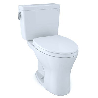 Toto Drake 1g Two Piece Elongated Dual Flush 1 0 And 0 8 Gpf Universal Height Dynamax Tornado Flush Toilet With 10 Inch Rough In And Cefiontet Wax In 2020 Toto Toilet Washlet Clean Toilet Bowl