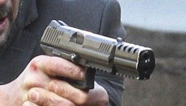 Hk P30l With Custom Compensator Used In The Movie John Wick Hand Guns Guns And Ammo Guns
