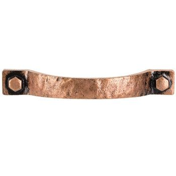 Copper Hammered Metal Pull Copper Cabinet Pulls Copper Decor