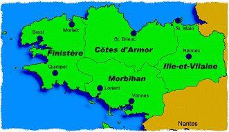Karte Der Bretagne Bretagne Tourismus Und Frankreich