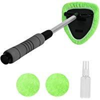 Xindell Windshield Cleaner Window Windshield Cleaning Tool With Extendable Handle And Washable Reusa Windshield Cleaner Windshield Cleaning Tool Window Cleaner