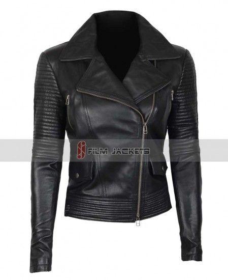 Women Black Leather Jacket Gal Gadot Black Ladies Leather Jacket for Womens