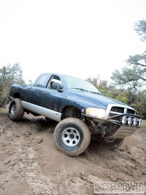 1004dp_01+diesel_power+mud_bogging_tips+dodge_diesel_truck