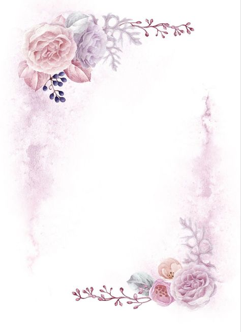 486c9151 Mais de 30 Frames Florais Para Download Grátis   Kimbi art   Frame floral, Desenhos de flores e Flor aquarela
