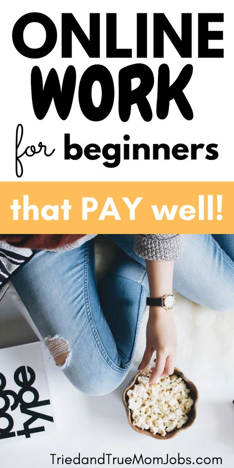 Online Work for Beginners that Pay Well