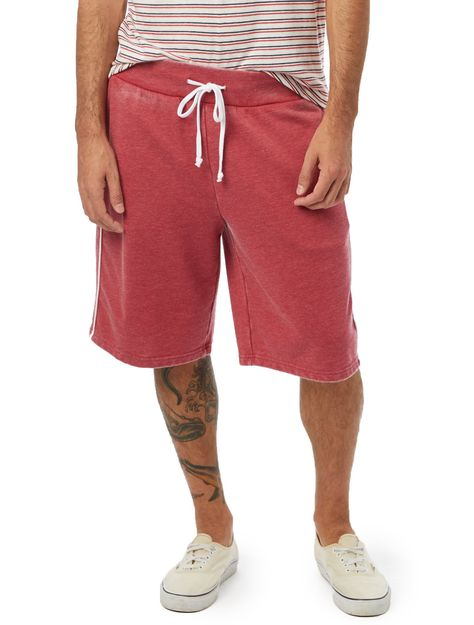 The Throwback French Terry Shorts - Red/White / XL