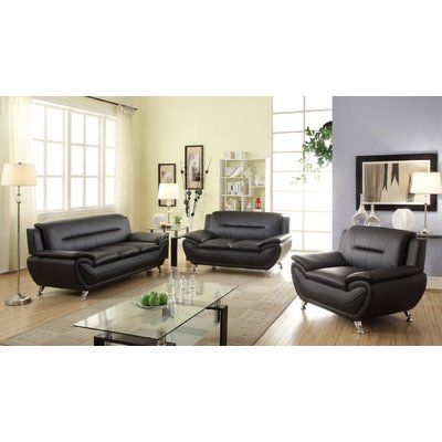 Orren Ellis Monica 3 Piece Standard Living Room Set Living Room Sofa Modern Sofa Living Room Modern Living Room Sofa Set