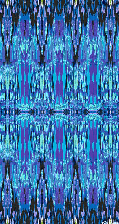 'Ikat' from the 'Fabrique-istan' collection by Paula Nadelstern for Benartex.-Ocean Blue