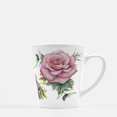 Enjoy your morning coffee in this garden roses latte mug. The artwork wraps all the way around the mug to display the flowers however you hold it.Garden Roses Latte Mug | Floral coffee mug | Vintage Rose mug | Gift for mom | Mother's Day gift | Coffee gift for her | Pink flower mug | mug for momITEM DETAILs- 12 oz white, glossy ceramic mug- Dishwasher and microwave safe- Comes packaged in a clear bag with white ribbon- Turnaround time is 3-7 business days before shipment- Please note Mugs may sh