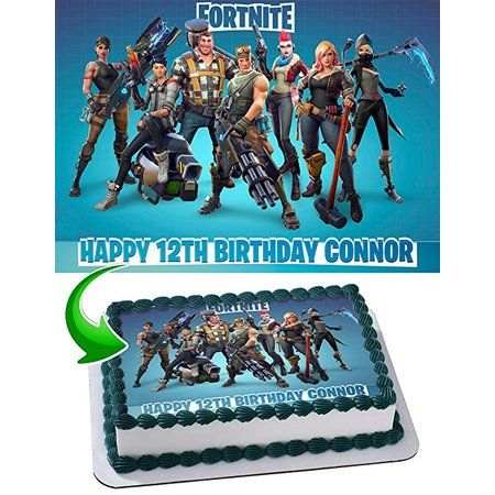 image regarding Printable Edible Cake Toppers known as Fortnite Customized Edible Picture Cake Topper, 1/4 Sheet