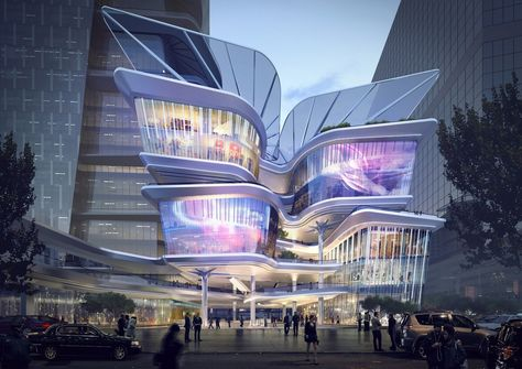 Aedas Reveal Dynamic New Design For The Shenzhen Luoho Friendship Trading Centre,Courtesy of Aedas