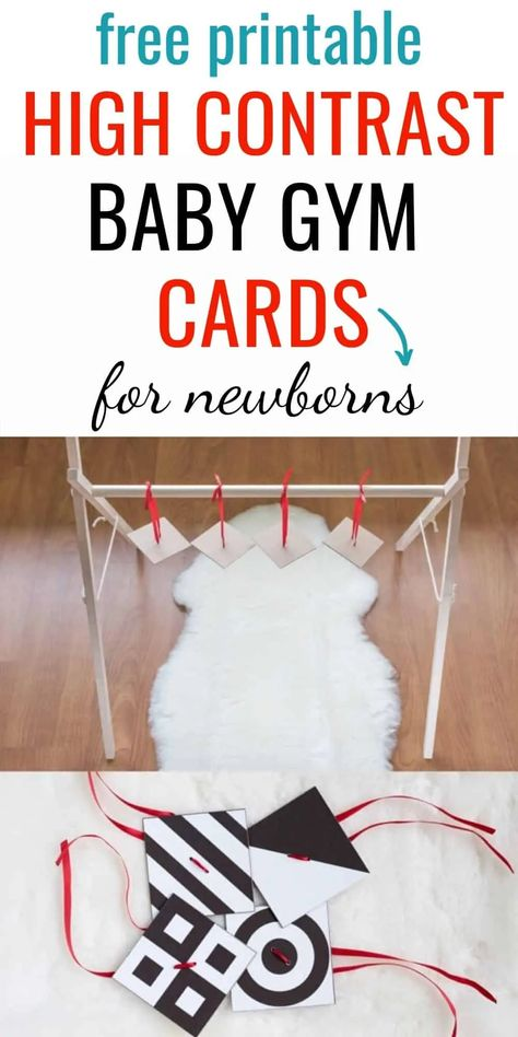 DIY High Contrast Baby Gym Cards - Free Printable High Contrast Mobile for Newborns