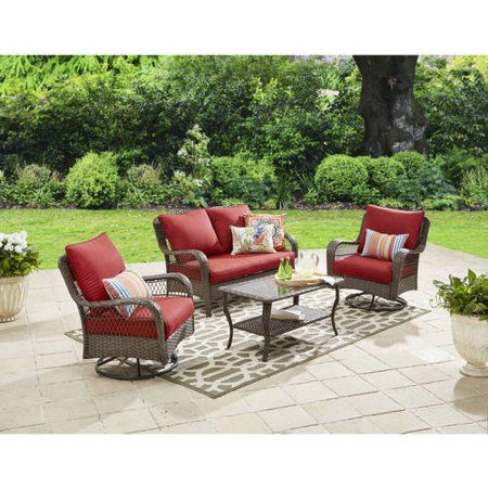Better Homes And Gardens Colebrook 4 Piece Outdoor Conversation
