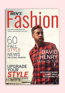 Men S Fashion Magazine Cover Template Magazine Cover Template Magazine Cover Cover Template