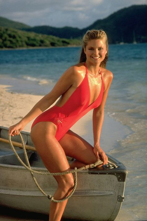 Swimsuit Issue 1980 Model Christie Brinkley poses for the 1980 Sports Illustrated Swimsuit issue on November 23 1979 in the British Virgin Islands.