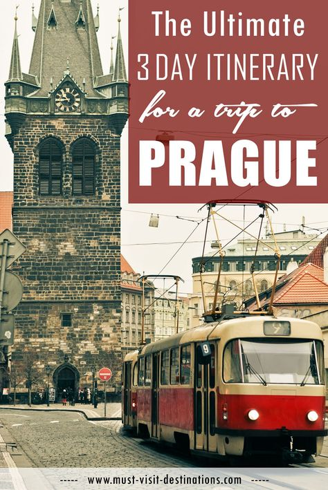The Ultimate 3-Day Itinerary for a Trip to Prague #travel #prague