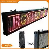 Leadleds 40 Rgy Tri Color Scrolling Led Sign Board For School Coffee Bar Stores Led Display Board Led Signs Led Sign Board