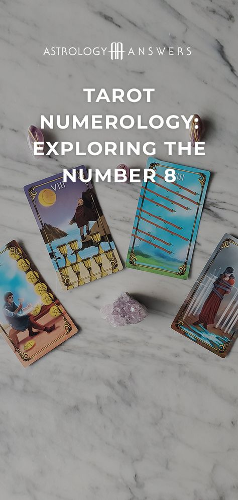 Good omens from the Universe come in many forms and the 8's in your Tarot deck are one of these omens.  Explore the meaning of 8's in the Minor Arcana in today's article! #tarot #tarotcards #minorarcana #tarotmeanings