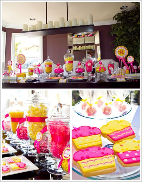 Candy Bar in Hot Pink and Yellow