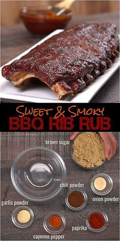Oven Baked BBQ Ribs with Homemade Dry Rub & BBQ Sauce Recipe - - No barbecue pit? No problem. You can make fall-off-the-bone tender ribs in the oven with our melt-in-your-mouth homemade dry rub and easy bbq sauce recipe. Dry Rub Recipes, Sauce Recipes, Pork Recipes, Bbq Rib Dry Rub Recipe, Smoker Recipes, Bbq Sauce Recipe For Ribs, Baby Ribs Recipe, Easy Bbq Recipes, Pork Ribs Rub Recipe Brown Sugar