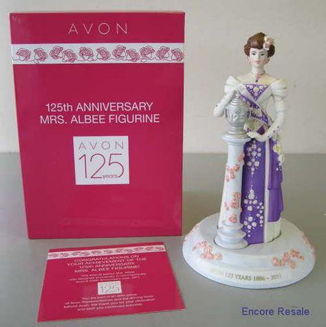 Avon 125th Anniversary Mrs Albee Award Figurine, Rare