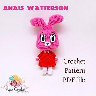 Anais Watterson Crochet Pattern Now Available In My Etsy Shop Link In Bio باترون اناييس جاهز للبيع طريقه الطل Crochet Crochet Patterns Crochet Hats