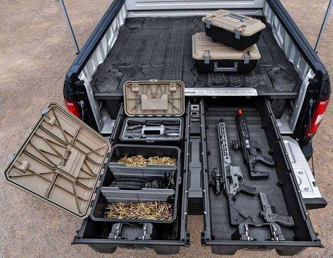 Truck Accesories, Truck Bed Accessories, Hidden Gun Storage, Weapon Storage, Tactical Truck, Tactical Gear, Revolver, Truck Bed Storage, Gun Vault