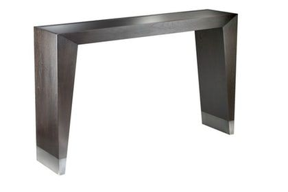 Grove Console Contemporary Midcentury Modern Glass Metal Console Table By Desiron Modern Console Tables Mid Century Modern Console Table Modern Console