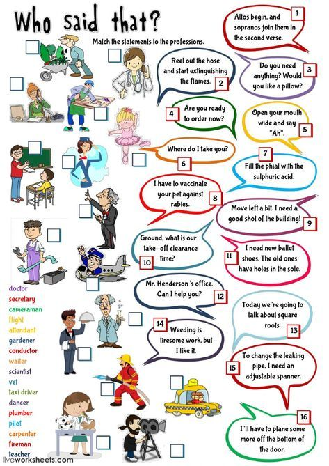 Jobs And Occupations Interactive And Downloadable Worksheet You Can Do The Exe English Worksheets For Kids English Lessons For Kids English Teaching Materials Teaching english jobs worksheets