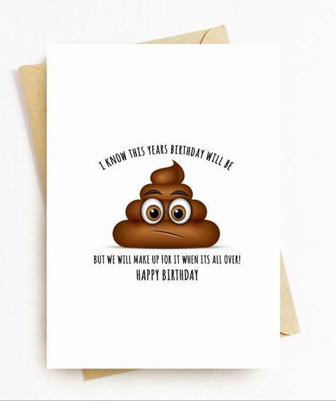 Personalised Card - Happy Birthday Card, lockdown, quarantine card