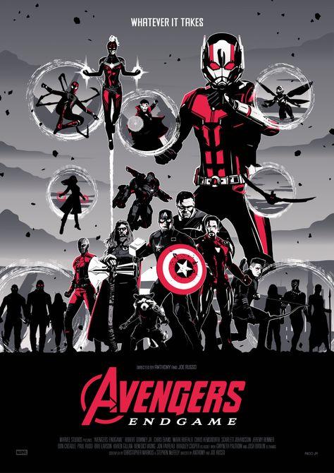 AVENGERS: ENDGAME RED Poster Art - PosterSpy