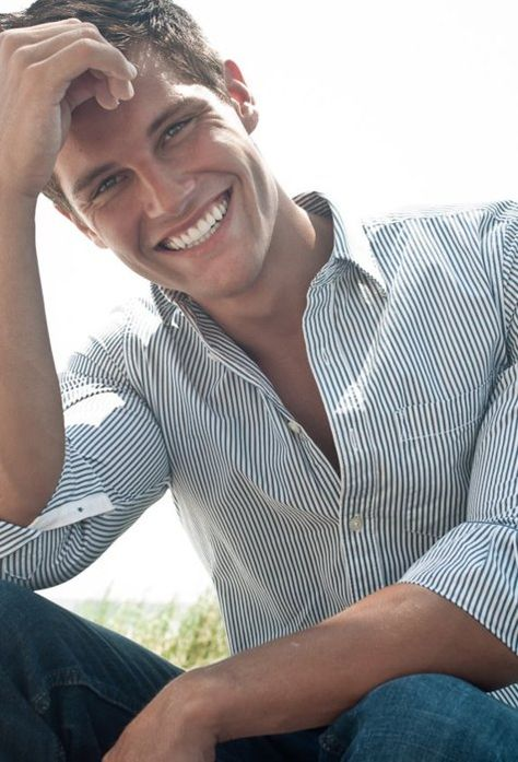 Guys - try a button-front shirt and make it more casual by rolling up the sleeves