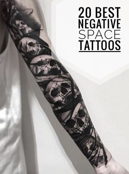 20 Best Negative Space Tattoos For Men Negative Space Tattoo Space Tattoo Tattoos For Guys