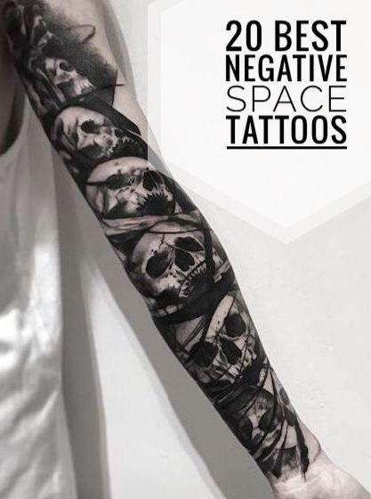 Negative Space Tattoos : negative, space, tattoos, Negative, Space, Tattoos, Tattoo,, Tattoo, Sleeve