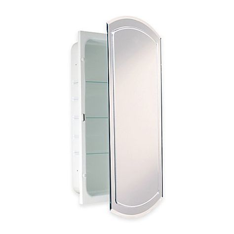 Recessed V Groove Beveled Recessed Mirrored Medicine Cabinet In White Recessed Medicine Cabinet Bathroom Medicine Cabinet Beveled Mirror