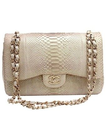d422c124b74710 Get the trendiest Cross Body Bag of the season! The Chanel Classic Flap  Exotic Python Leather Cross Body Bag is a top 10 member favorite on Tradesy.