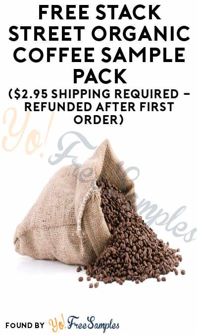FREE Stack Street Organic Coffee Sample Pack (Credit Card