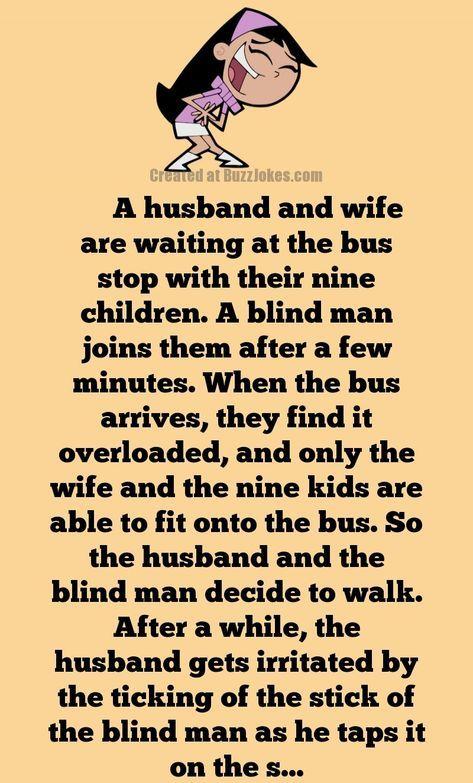 Short Joke A Huge Family Waiting For A Bus Short Jokes Funny