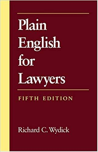 Plain English For Lawyers 5th Edition Ebook Handwriting