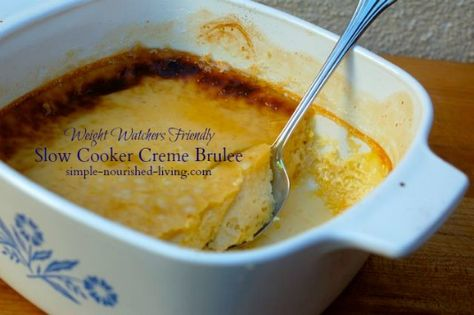Light Creme Brulee Made in the Crock Pot