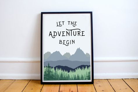 Let The Adventure Begin Print by BespeakDesign on Etsy