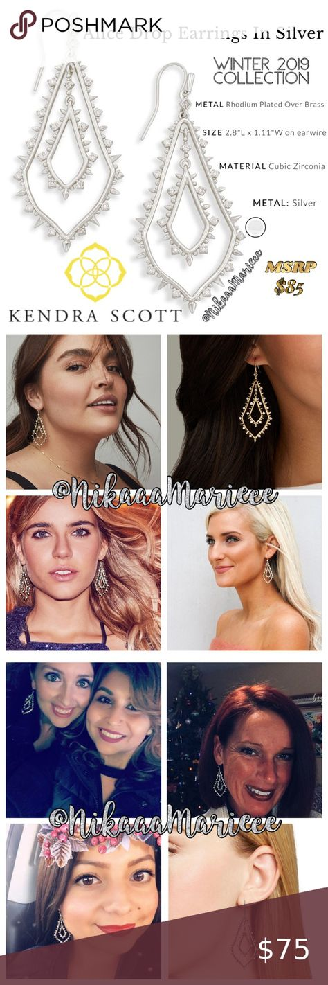 Kendra Scott Alice Drop Earrings -Silver For a stunning update to a simple silho... -  Kendra Scott Alice Drop Earrings -Silver For a stunning update to a simple silhouette – try the A - #alice #bohemianjewelry #Drop #earrings #jewelrybranding #jewelrycollection #jewelrydrawing #kendra #Scott #silho #silver #simple #stunning #update