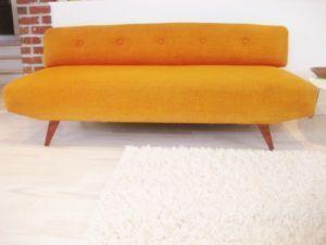 Mid Century Modern Retro Orange Daybed Couch Winnipeg Furniture