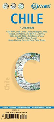 Download Pdf Chile Laminated Map By Borch English Spanish French Italian And German Edition Free Epub Mobi Ebooks Santiago De Cuba Map Of Cuba Borch