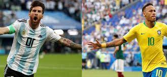 مشاهدة مباراة البرازيل والأرجنتين بث مباشر اليوم 3 7 2019 في نصف نهائي كوبا امريكا Brazil Vs Argentina Baseball Cards Brazil