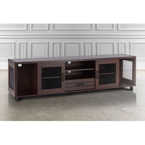 Furniture Of America Gasa Industrial 60 Inch Brown Tv Console